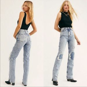 NEW Free People My Own Lane High Waisted Jeans